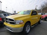 2009 Detonator Yellow Dodge Ram 1500 SLT Quad Cab 4x4 #79371792