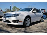 2011 White Platinum Tri-Coat Ford Fusion SE V6 #79427275