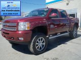 2013 Deep Ruby Metallic Chevrolet Silverado 1500 LT Crew Cab 4x4 #79427027