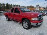 2005 Flame Red Dodge Ram 1500 SLT Quad Cab 4x4 #79427341