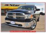 2012 Black Dodge Ram 1500 Lone Star Crew Cab 4x4 #79427252