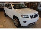 2014 Bright White Jeep Grand Cherokee Overland 4x4 #79463541