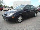 2003 Pitch Black Ford Focus LX Sedan #7914339