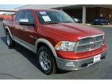 2010 Inferno Red Crystal Pearl Dodge Ram 1500 Laramie Crew Cab 4x4 #79463550