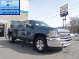 2013 Blue Granite Metallic Chevrolet Silverado 1500 LT Extended Cab 4x4 #79513059
