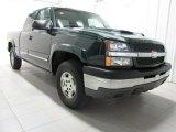 2003 Dark Green Metallic Chevrolet Silverado 1500 LS Extended Cab 4x4 #79513442