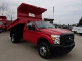 2013 Ford F350 Super Duty XL Regular Cab 4x4 Dump Truck Front 3/4 View
