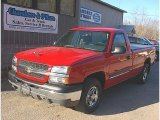 2004 Victory Red Chevrolet Silverado 1500 Regular Cab 4x4 #79513234
