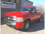 2010 Victory Red Chevrolet Silverado 1500 LS Regular Cab #79513231