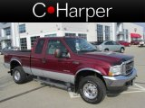 2004 Dark Toreador Red Metallic Ford F250 Super Duty XLT SuperCab 4x4 #79512963