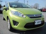 2013 Lime Squeeze Ford Fiesta SE Sedan #79569728