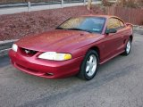 1994 Laser Red Tinted Metallic Ford Mustang GT Coupe #7915392