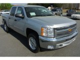 2013 Silver Ice Metallic Chevrolet Silverado 1500 LT Crew Cab 4x4 #79569796