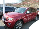 2014 Deep Cherry Red Crystal Pearl Jeep Grand Cherokee Overland 4x4 #79569629