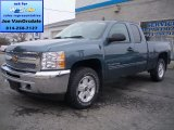 2013 Blue Granite Metallic Chevrolet Silverado 1500 LT Extended Cab 4x4 #79627750