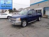 2013 Blue Topaz Metallic Chevrolet Silverado 1500 LT Extended Cab 4x4 #79627749