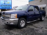 2013 Blue Topaz Metallic Chevrolet Silverado 1500 LT Crew Cab 4x4 #79627744