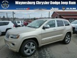 2014 Cashmere Pearl Jeep Grand Cherokee Overland 4x4 #79627970
