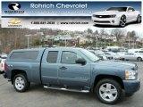 2008 Blue Granite Metallic Chevrolet Silverado 1500 LT Extended Cab 4x4 #79684782