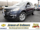 2013 Atlantis Blue Metallic Chevrolet Traverse LT AWD #79684624