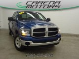2008 Electric Blue Pearl Dodge Ram 1500 SLT Quad Cab 4x4 #79713965