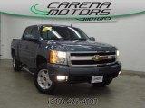 2009 Blue Granite Metallic Chevrolet Silverado 1500 LTZ Crew Cab 4x4 #79713964