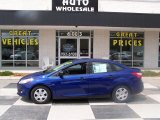 2012 Sonic Blue Metallic Ford Focus S Sedan #79713349