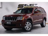 2008 Red Rock Crystal Pearl Jeep Grand Cherokee Limited 4x4 #79712913