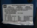 2004 Chevrolet Silverado 1500 Work Truck Extended Cab Info Tag