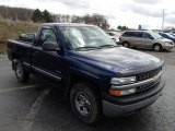 2002 Indigo Blue Metallic Chevrolet Silverado 1500 Work Truck Regular Cab 4x4 #79713092