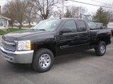 2013 Black Chevrolet Silverado 1500 LS Extended Cab 4x4 #79713856