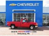 2006 Victory Red Chevrolet Silverado 1500 Work Truck Regular Cab 4x4 #79713466
