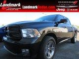 2010 Brilliant Black Crystal Pearl Dodge Ram 1500 Sport Crew Cab #79713041