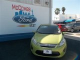 2013 Lime Squeeze Ford Fiesta SE Sedan #79712800