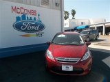 2013 Ruby Red Ford Fiesta SE Sedan #79712799
