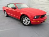 2007 Torch Red Ford Mustang V6 Deluxe Convertible #79713183