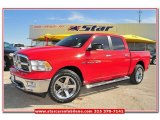 2012 Flame Red Dodge Ram 1500 Lone Star Crew Cab 4x4 #79713397