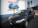 2012 Tuxedo Black Metallic Ford Focus S Sedan #79813912