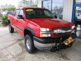 2003 Victory Red Chevrolet Silverado 2500HD LT Crew Cab 4x4 #79814549