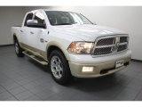 2012 Bright White Dodge Ram 1500 Laramie Longhorn Crew Cab 4x4 #79814300