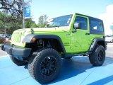 2012 Gecko Green Jeep Wrangler Sport S 4x4 #79813950