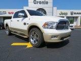 2011 Bright White Dodge Ram 1500 Laramie Longhorn Crew Cab 4x4 #79814067