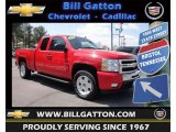 2009 Victory Red Chevrolet Silverado 1500 LT Extended Cab 4x4 #79814454