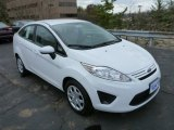 2013 Oxford White Ford Fiesta S Sedan #79872208