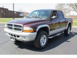2004 Deep Molten Red Pearl Dodge Dakota SLT Quad Cab 4x4 #79872495