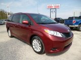2011 Salsa Red Pearl Toyota Sienna LE AWD #79872614