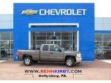 2013 Mocha Steel Metallic Chevrolet Silverado 1500 LT Extended Cab 4x4 #79872472