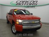 2008 Victory Red Chevrolet Silverado 1500 LT Extended Cab 4x4 #79928592