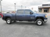 2009 Midnight Blue Metallic GMC Sierra 2500HD Work Truck Crew Cab 4x4 #79950437