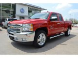 2012 Victory Red Chevrolet Silverado 1500 LT Extended Cab #79950014